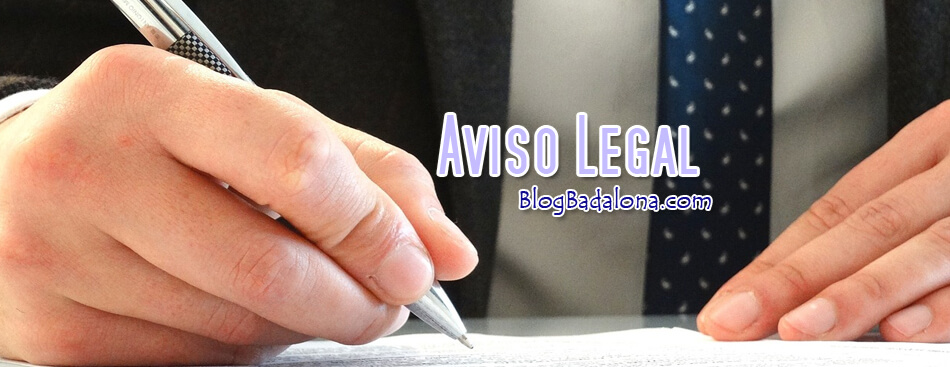 Aviso Legal Blog Badalona